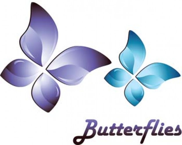3d butterfly flower adobe ai illustrator vector