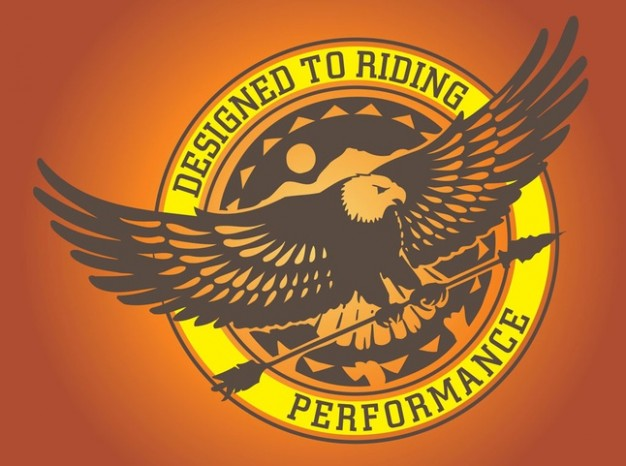 Eagle Logo Graphics with orange pink background