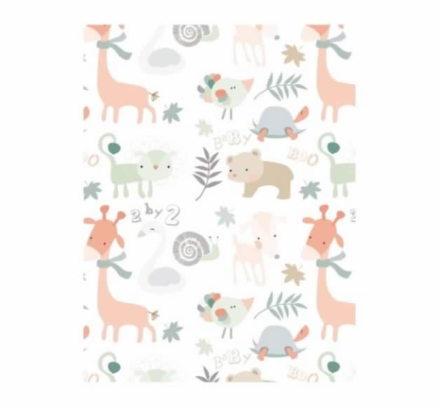 animals pattern with giraffe bear dog turtle background