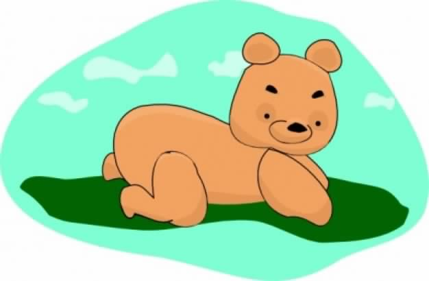 arking teddy bear bending over clip art