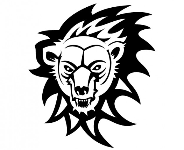Bear face firing Vector Image in black and white