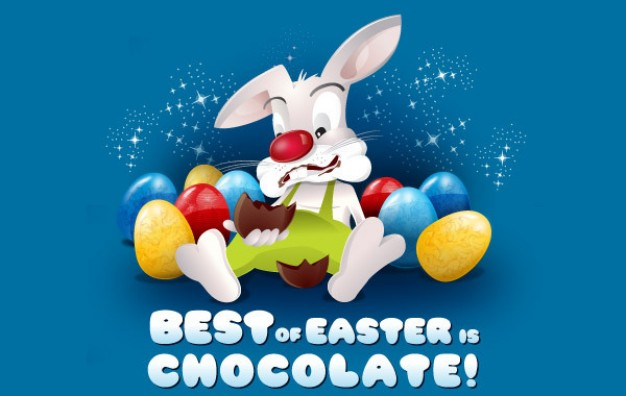 Best of Easter is Chocolate that rabbit lying in chocolate heap