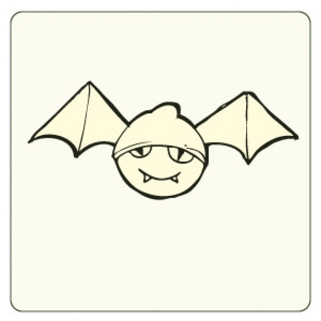 Cute bat Monster doodle vector for halloween design