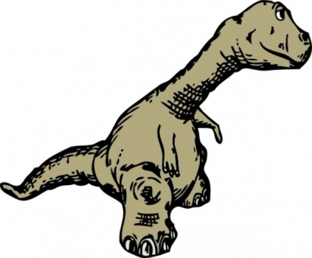 dinosaur side view clip art with white background