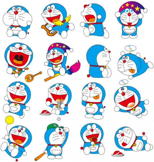 Doraemon character Dora A Dream of vector material