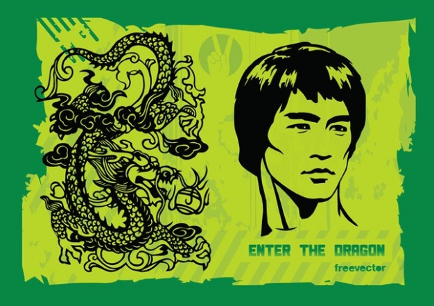 Enter the Dragon and Bruce lee and kung-fu
