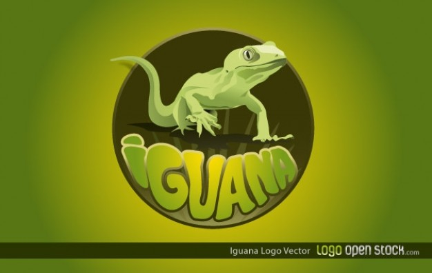 iguana with green halo for logo design
