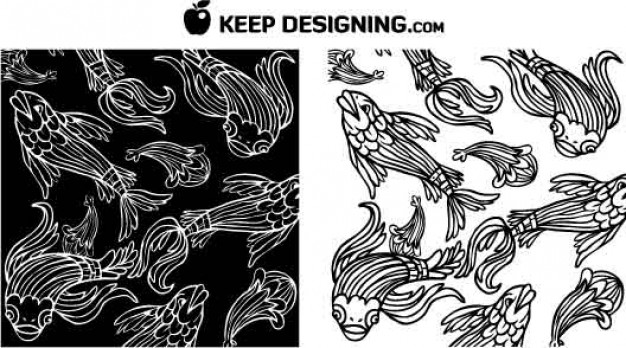 Fish Vectors Design of Clip Art Graphics for Wallpaper