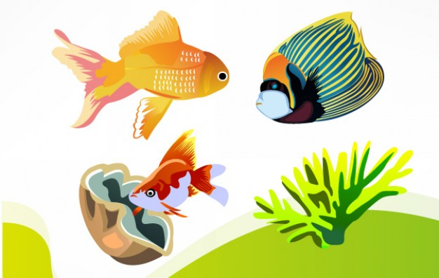 Free Sea Fish watergrass Vector