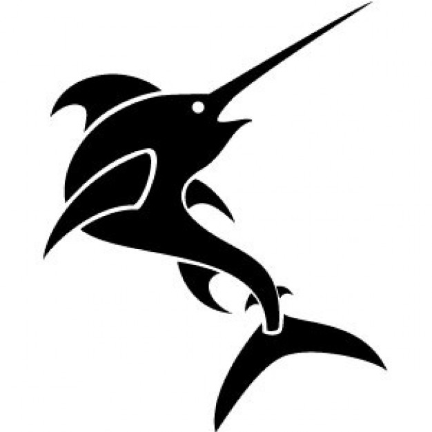 Swordfish silhouette with white background | download Free ...