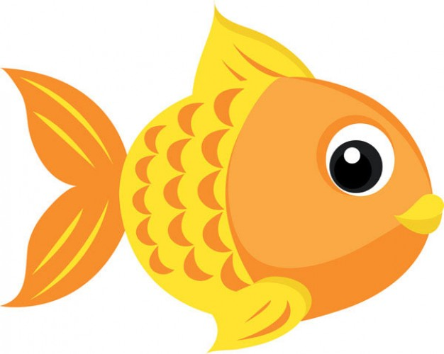 Goldfish side view Vector