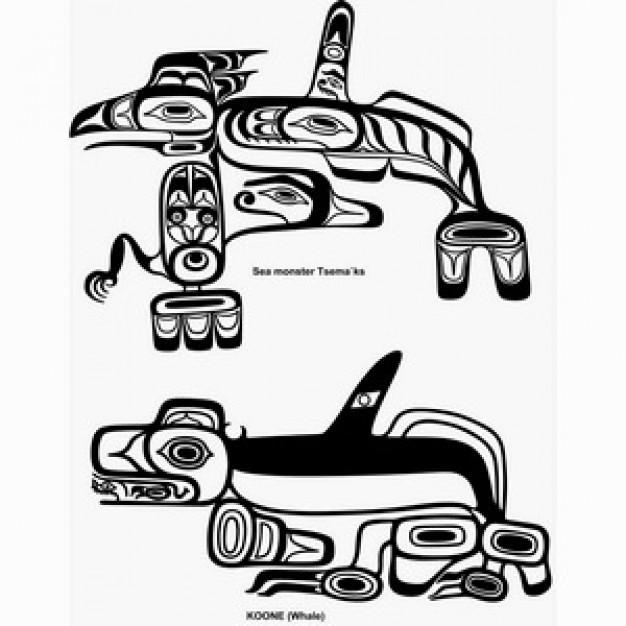 haida black white design clip art