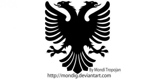 Heraldic Eagle with two heads Vector Silhouettes