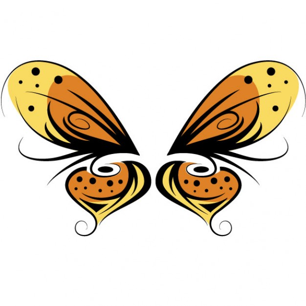 Minimalist design illusion of a butterfly with bright colors and optical