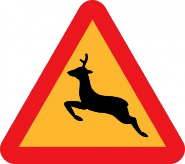 ... Area for road warning sign clip art | download Free Animal Vectors