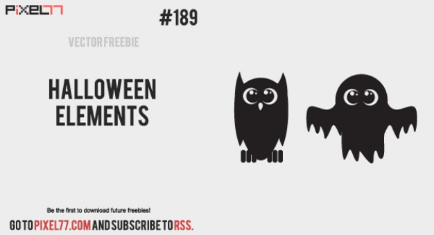 owl bat of Halloween Elements