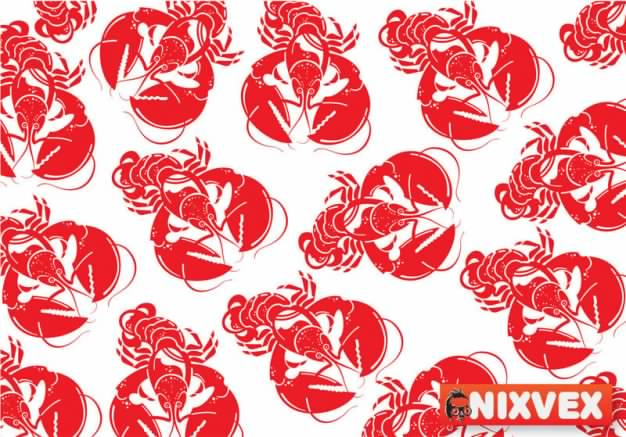 pattern with red NixVex Lobster