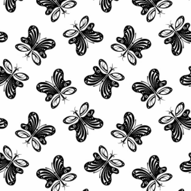 Pattern with simple Butterfly