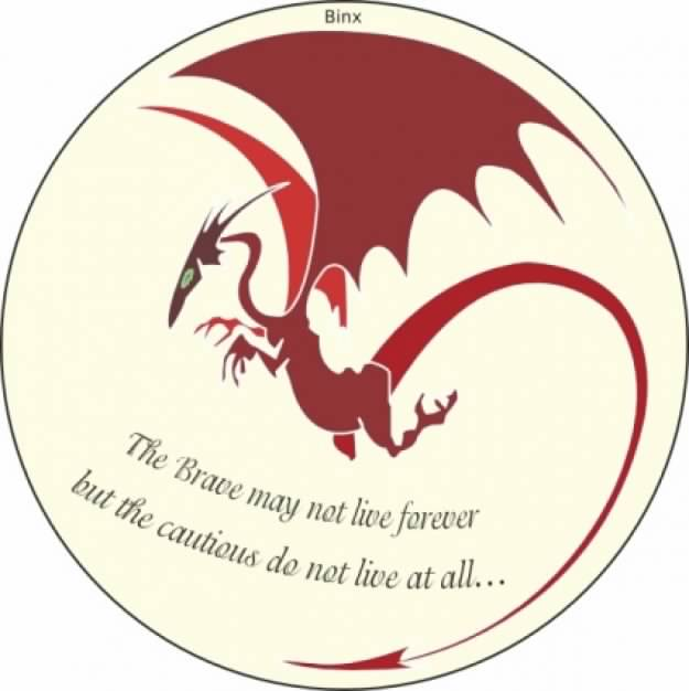 rose red courage dragon clip art circle with White background