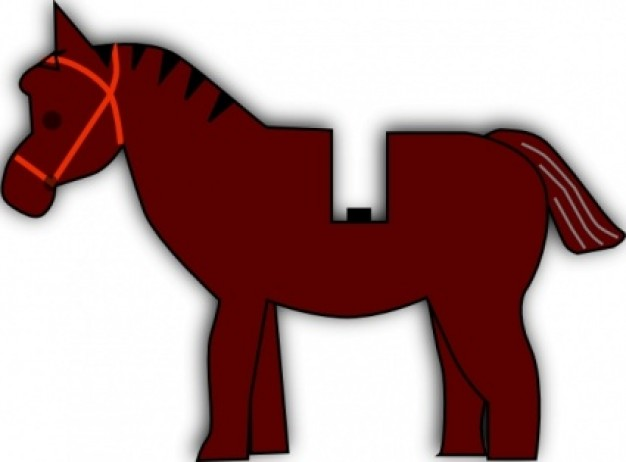 rose red horse lego clip art with White background
