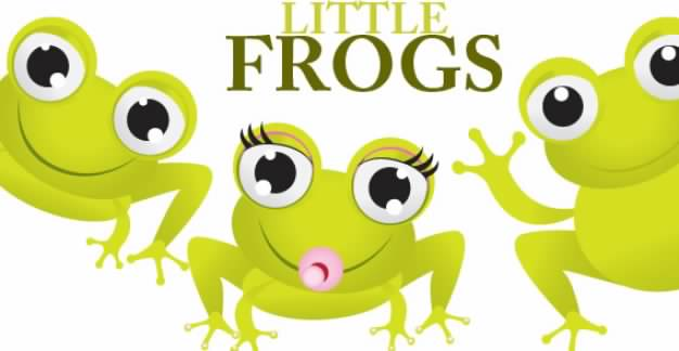 three Little Frogs opening mouth