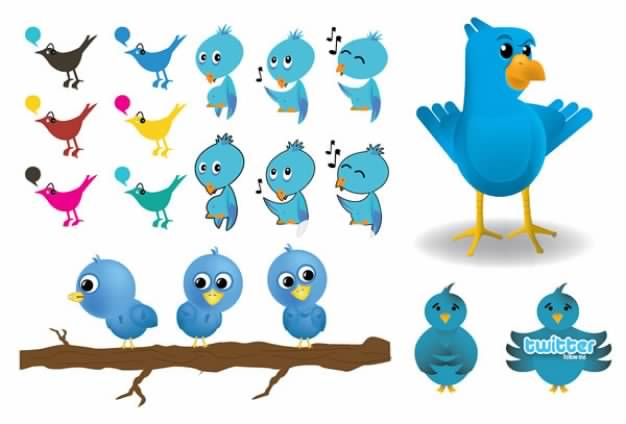 Twitter Image icon Vector material package