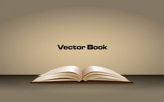 3d sleek graphic with opened book on brown surface