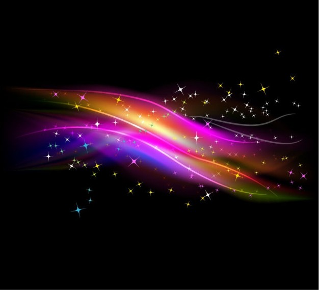 Adobe Photoshop abstract Mardi Gras glowing light with stars background about Holidays Fractal
