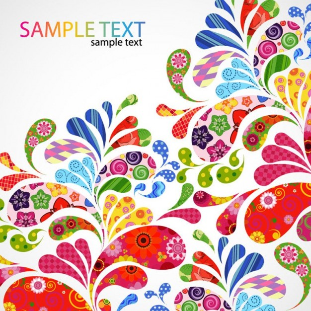 Art colorful Flowers floral design graphic about Crafts Etsy
