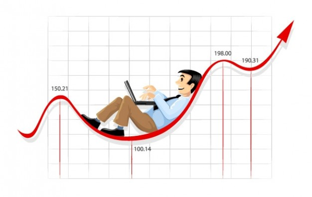 Exchange rate businessman Foreign exchange market working on the currency chart line about Travel Re