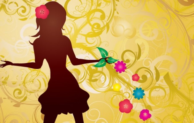 Fashion girl Business with flowers illustration about Art Photography