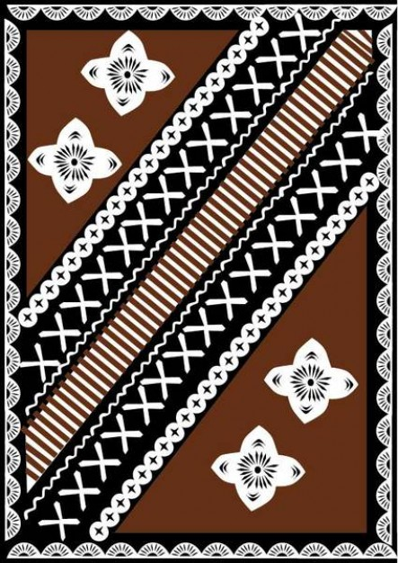 Fiji fijian Oceania tapa design about Asia-Pacific Travel and Tourism