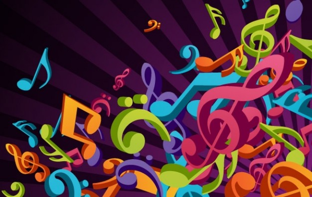 Mardi Gras 3d Bard College Conservatory of Music colorful music background about Holidays Shopping