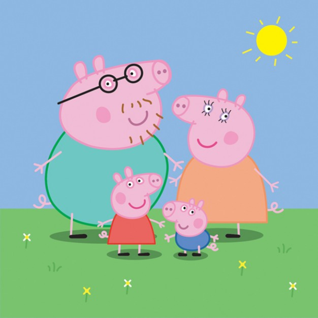 Mona Lisa peppa Painting pig family about Lisa Leonardo da Vinci