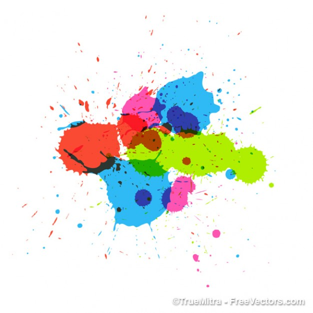 Paint colorful art painting splashes about Brush Visual Arts