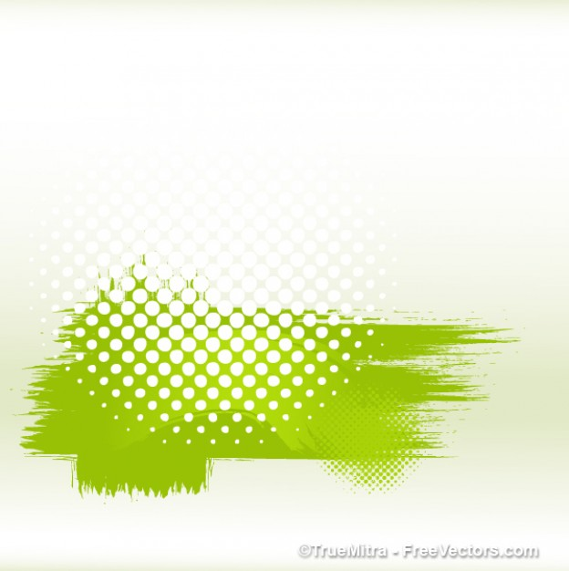 Paint dirty Halftone green halftone banner about Adobe Photoshop Image editing