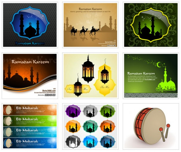Ramadan islamic Islam greeting card template for ramadan kareem or eidilfitr about Muslim Greeting c