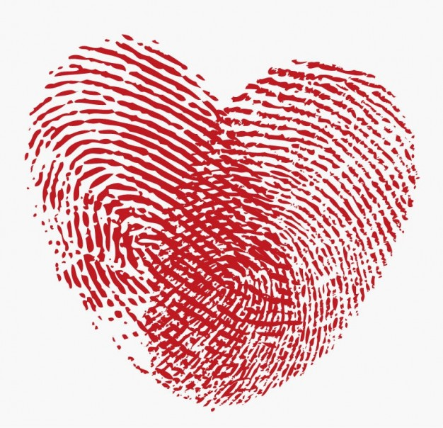 Relationships fingerprint Graphics heart graphic about Romance Adobe Photoshop