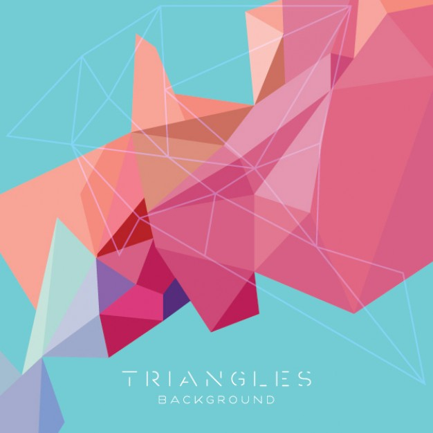 Triangle abstract Shopping triangles background modern design about God Valentine's Day