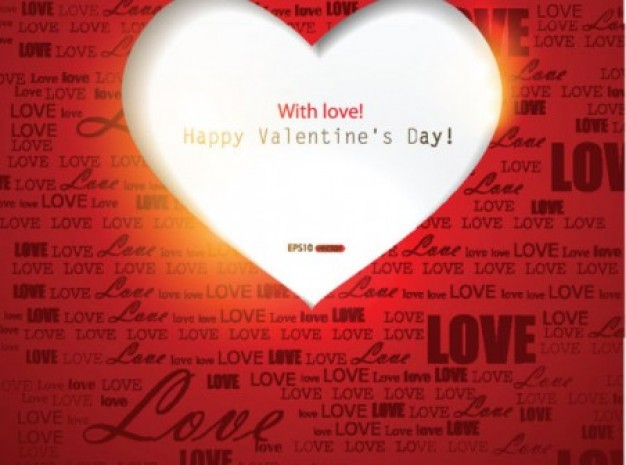 Valentine Day heart Romance and love words background about Greeting card Geoffrey Chaucer