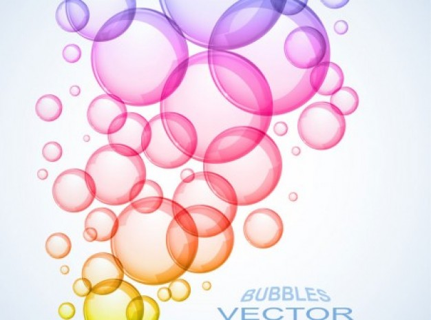 abstract background set with colorful bubbles