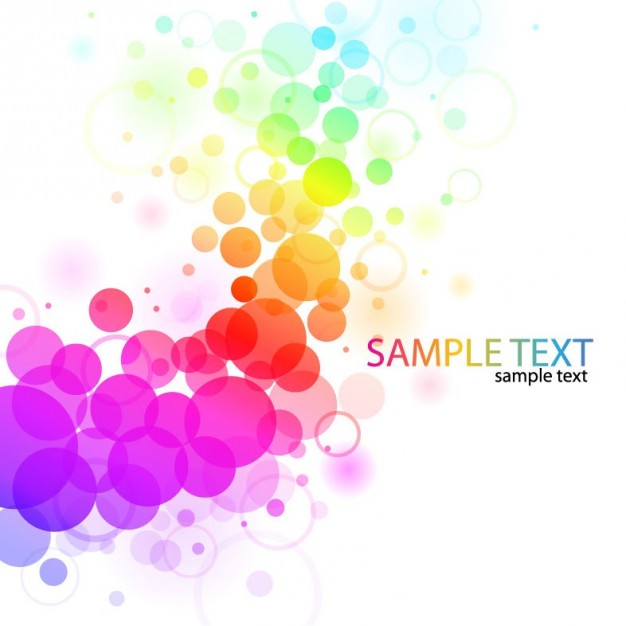 abstract colorful background with growing color ball