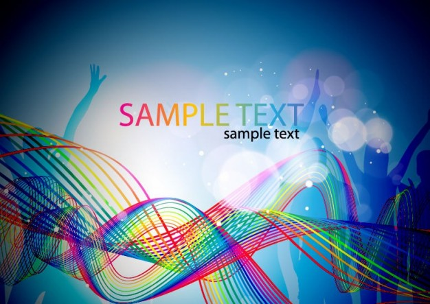 abstract colorful music elements background illustration