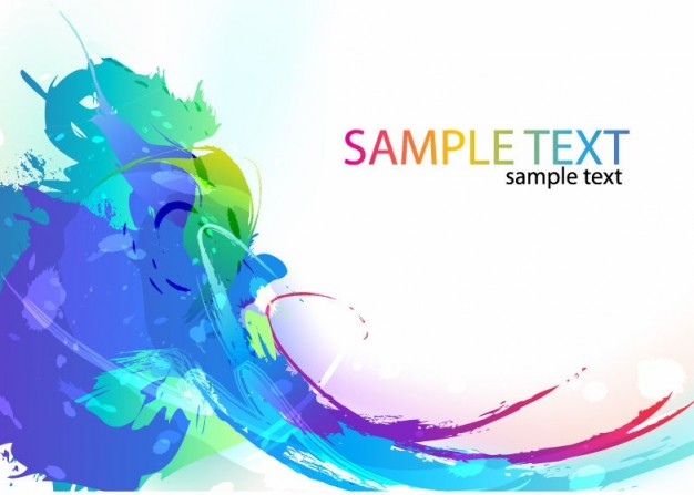 abstract colorful splashes background painted in ink