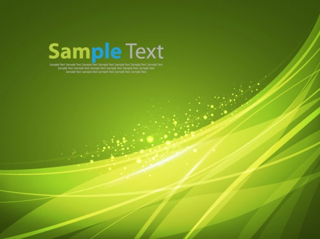 abstract green smooth lines with light dots background