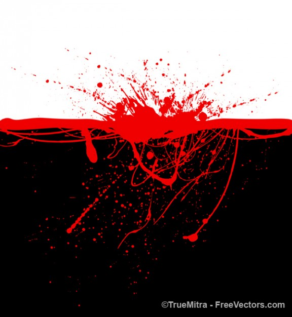 blood stains into black background