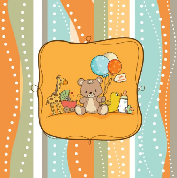 cartoon Duck hand painted background about Infant Recreation
