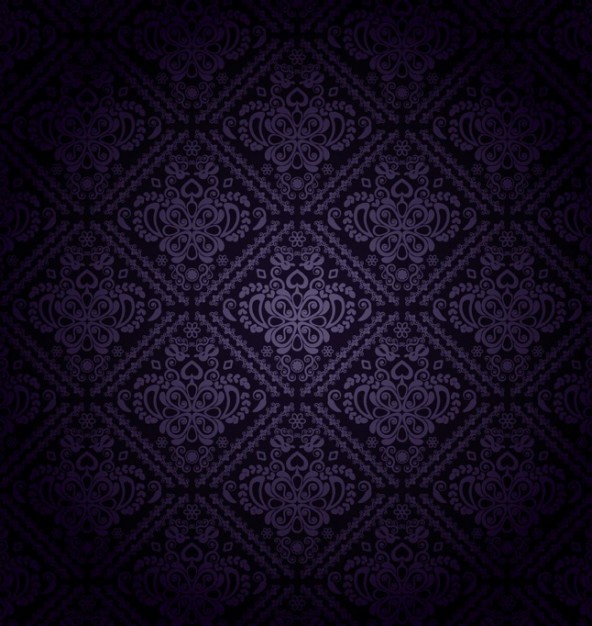 Classic Dark Purple Pattern With Floral