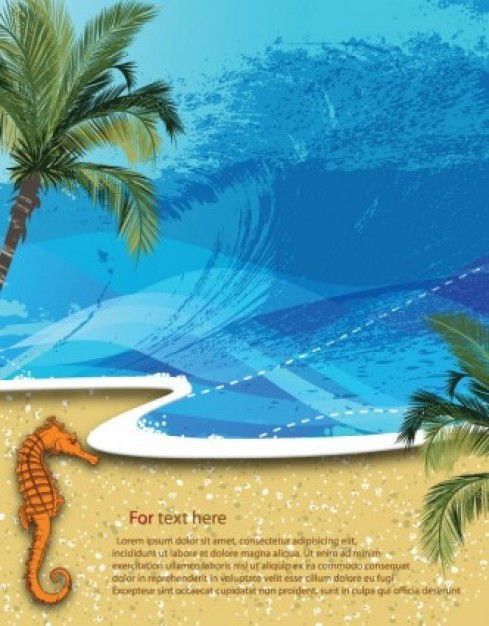Coconut summer Arecaceae beach background palm sand water wave holidays about Florida ads