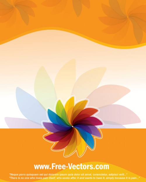 Color colorful Orange simple flower template background about Graphics Flowers